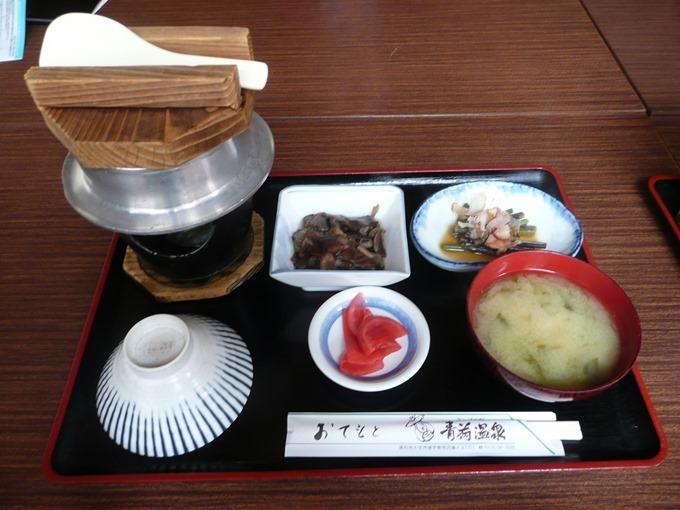 青荷温泉・昼食メニュー・釜飯定食