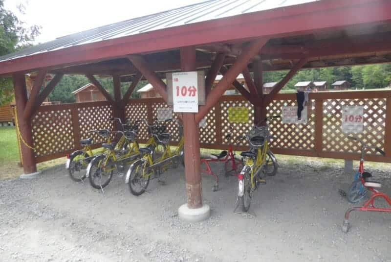 沙流川オートキャンプ場 無料おもしろ自転車